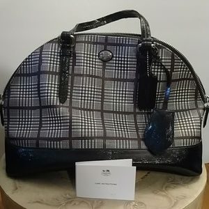 Coach bag with plaid design - used